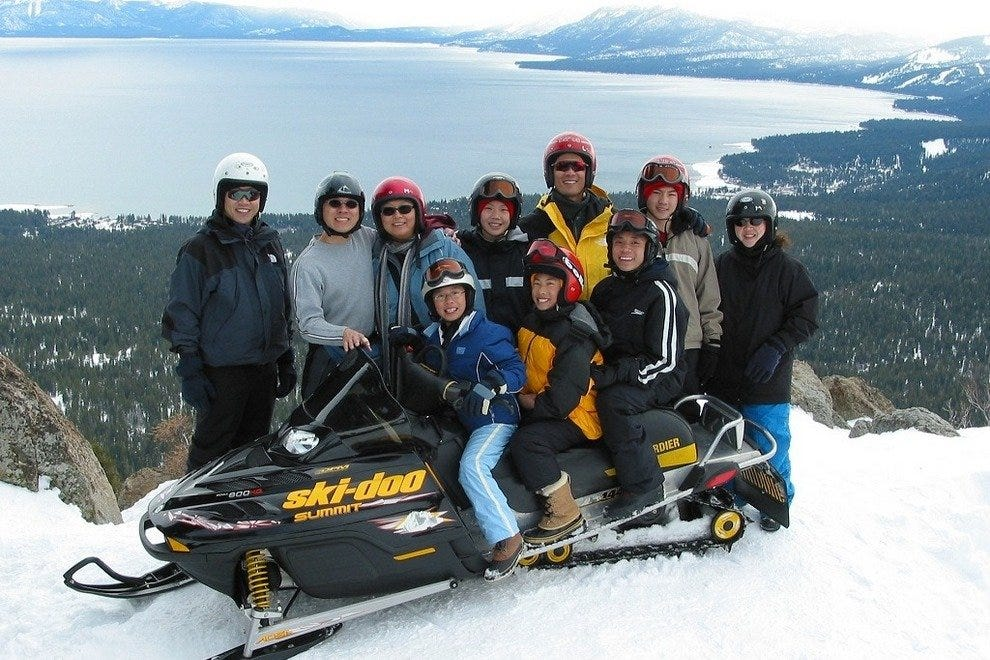 Lake Tahoe Snowmobiling Tours
