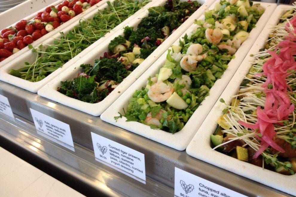Vibrant salads at Tractor steal the show