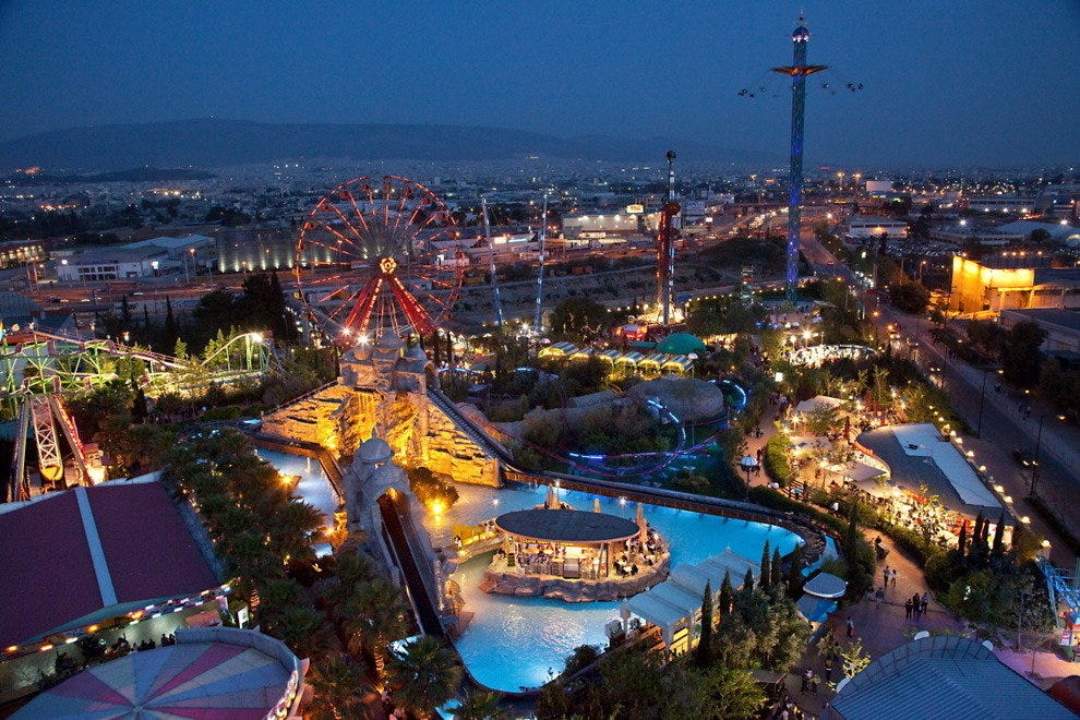 Night view of Allou Fun Park