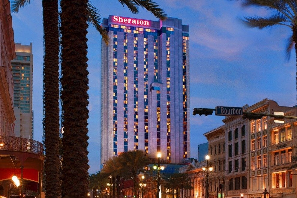 Sheraton New Orleans dominating the skyline