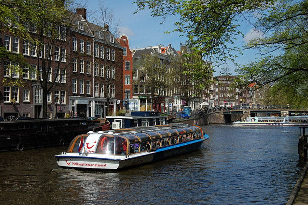 Canal cruise on the Prinsengracht