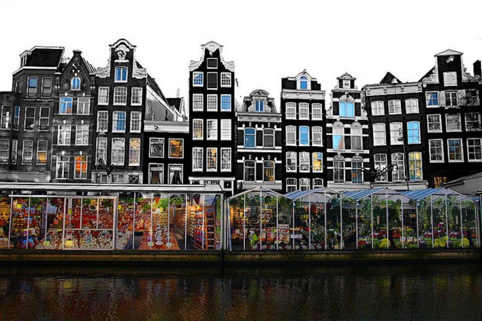 Bloemenmarkt, le seul marché aux fleurs flottant au monde