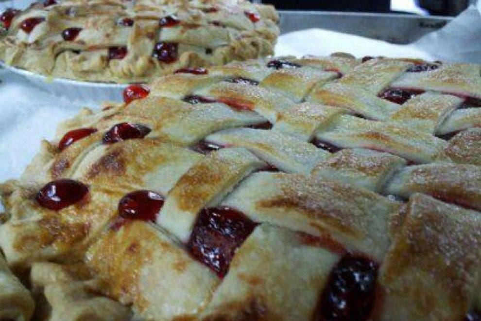 Cherry lattice at Walnut Cafe in Boulder