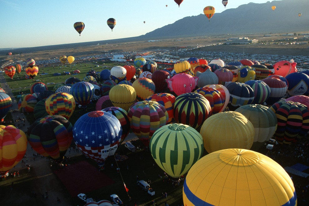 Watch the balloons take off from Balloon Fiesta Park