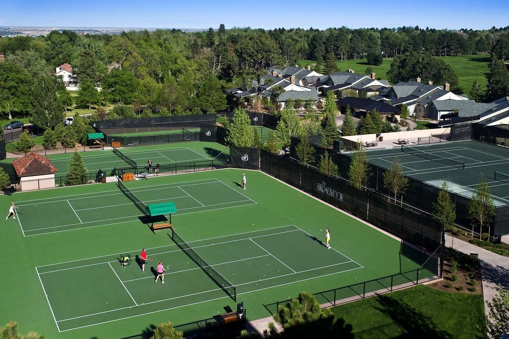 Outdoor courts at the Broadmoor