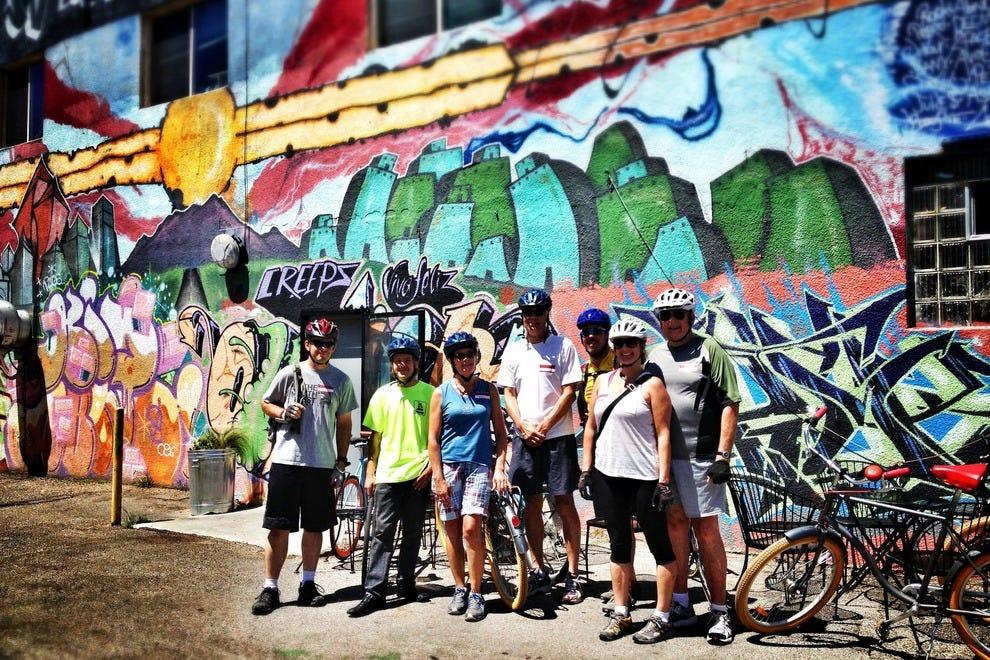 Biking Bad Tour outside of Tuco's