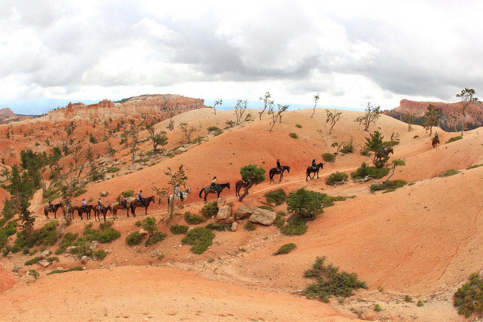 Trail ride in Bryce Canyon