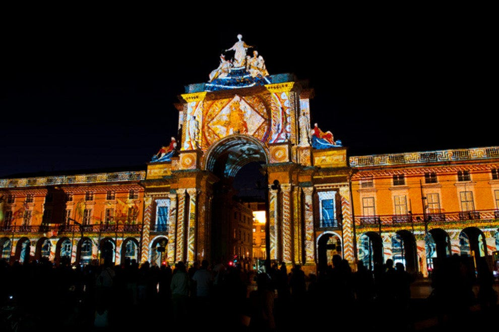 The Arco da Rua Augusta during the stunning multimedia show