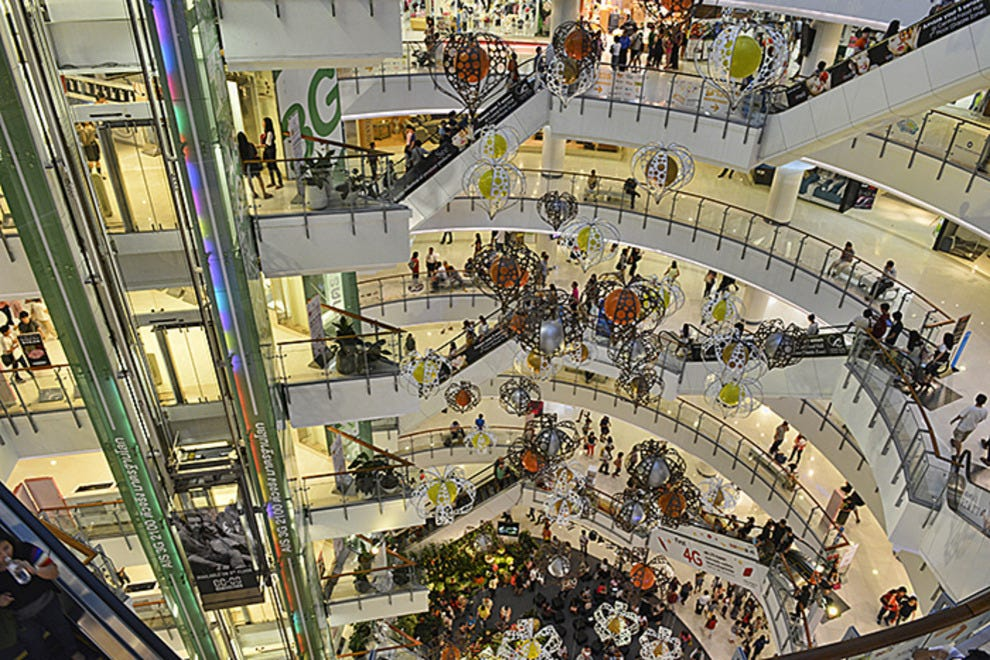 the world in a shopping mall
