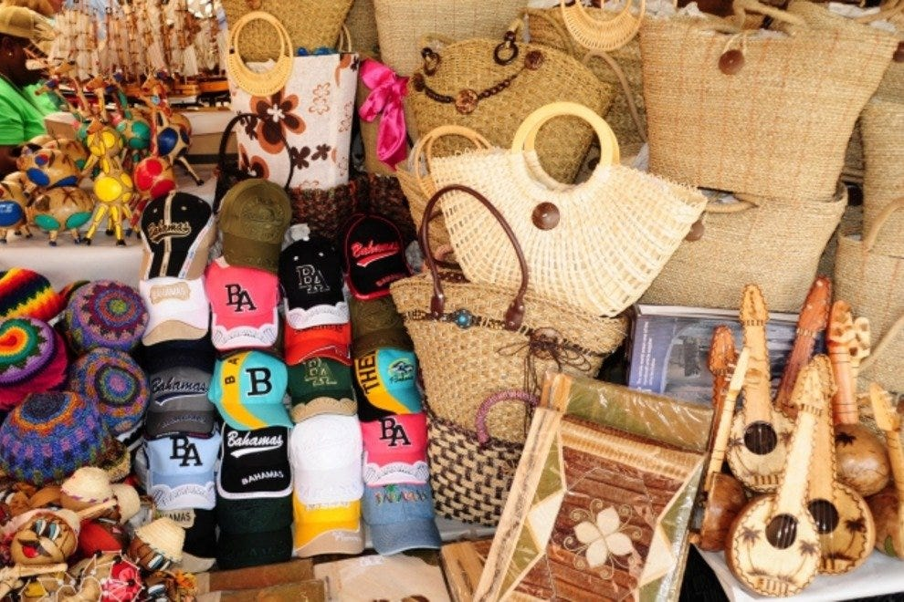 Handmade Bahamian crafts that you can find at Straw Market