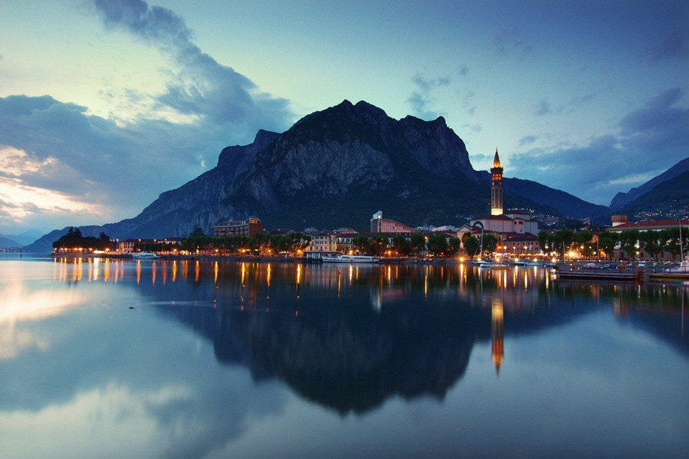 Lecco, a town on the banks of Lake Como