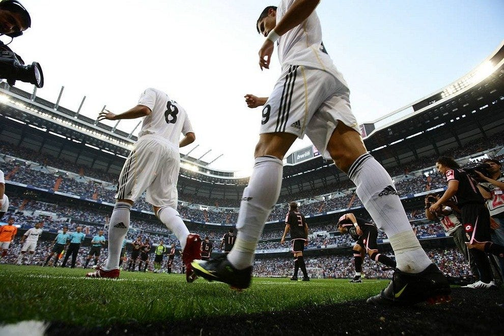 Ronaldo and company take the field in Madrid.