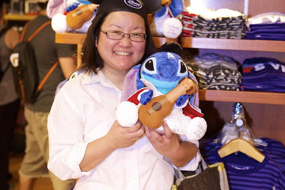 The Fashion Show Disney Store features several Las Vegas exclusives, like this Elvis-themed Stitch plush