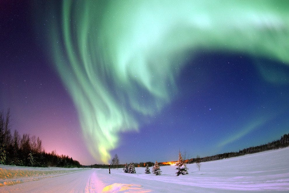 Northern Lights over Bear Lake, Alaska