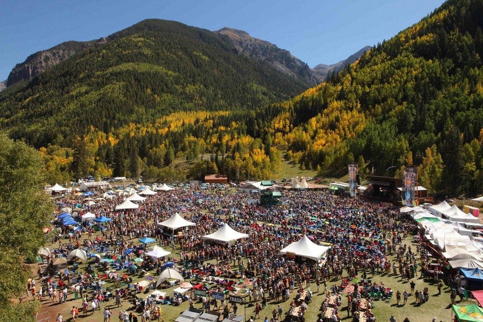 Crowds at the annual Telluride Blues & Brews Festival