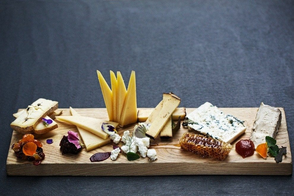 Honey & cheese plate from TRACE Restaurant