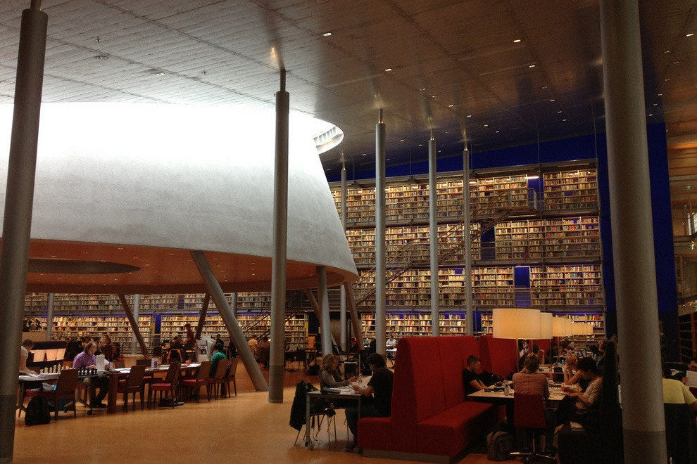 Delft University of Technology Library in Delft, Netherlands