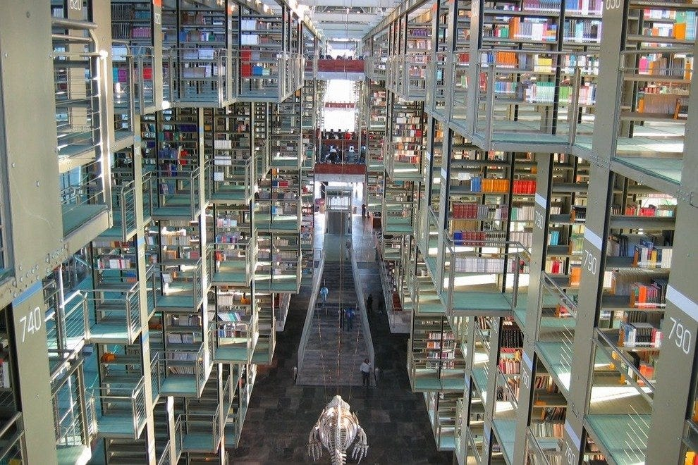 Vasconcelos Library in Mexico City