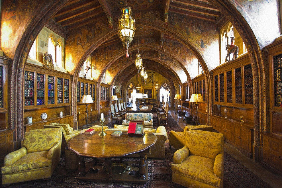 Hearst Castle Library in San Simeon, Calif.