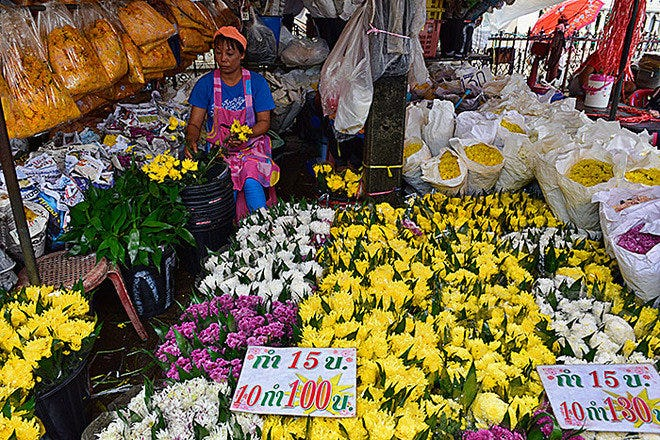Pak Klong Talad is one of the very best things to do in Bangkok