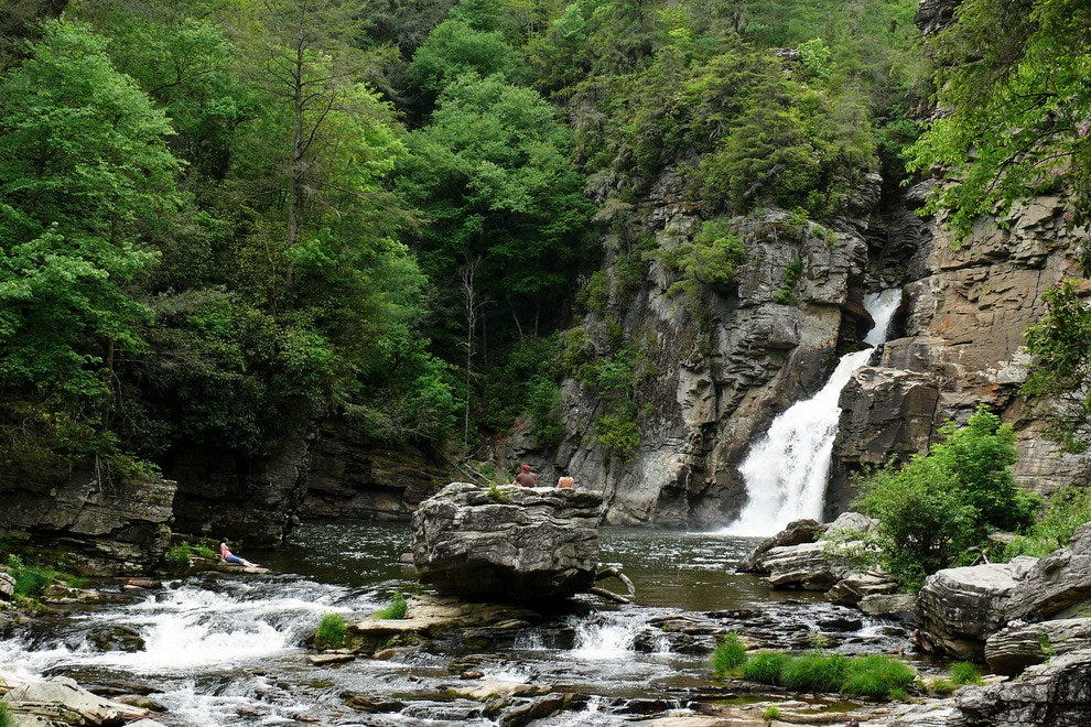 Linville Falls as Seen From Downstream