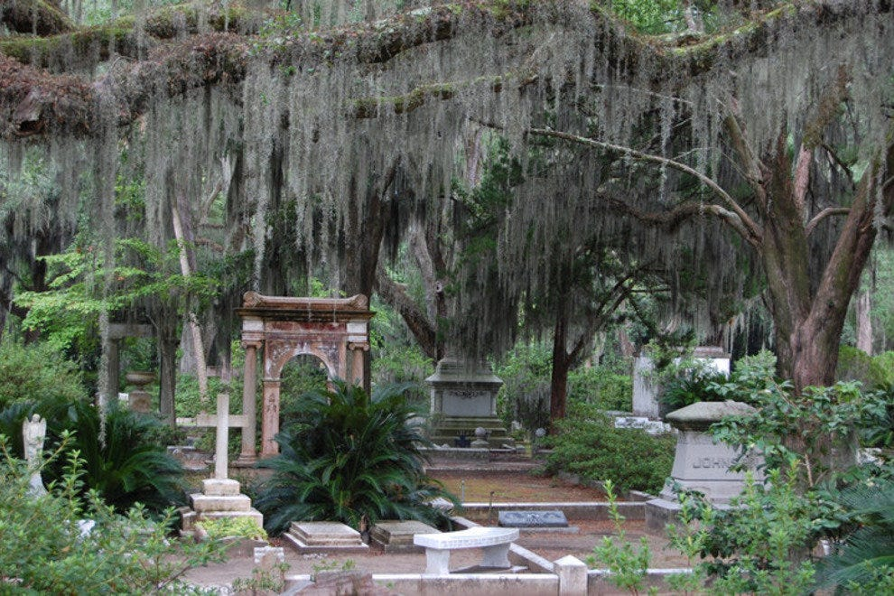 Bonaventure Cemetery, where Minerva conducted her midnight voodoo rituals, is every bit as beautiful and haunting in person as it is in the book
