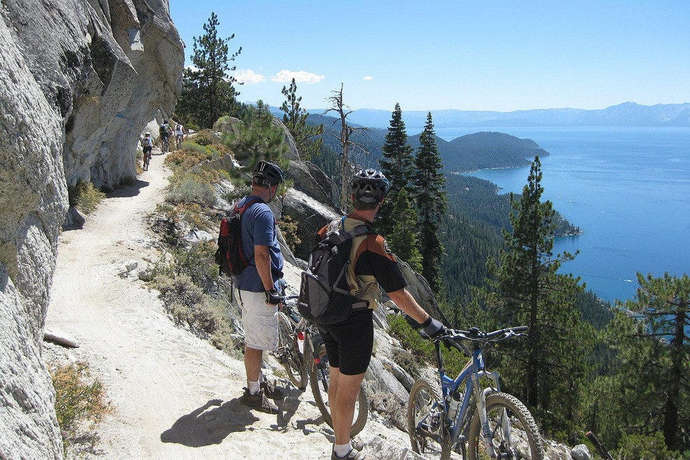 Tahoe S Flume Trail Offers Top Bike Trail Heights For Hikers