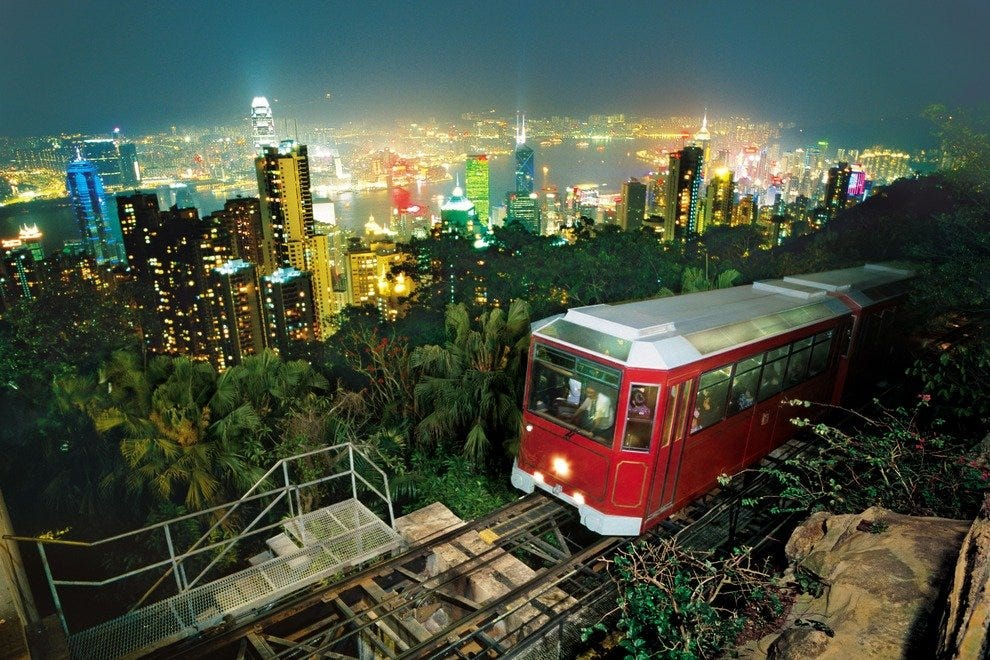 Take the iconic tram up Victoria Peak for an awe-inspiring view over the city