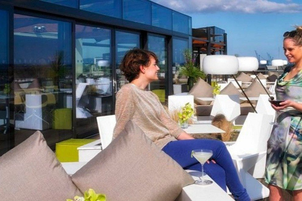 Rooftop lounge at The Marker