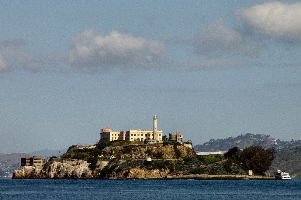 Alcatraz Federal Penitentiary off the California Coast