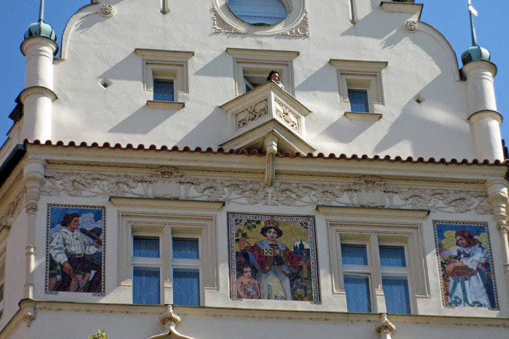 Look up at exquisite Art Nouveau murals