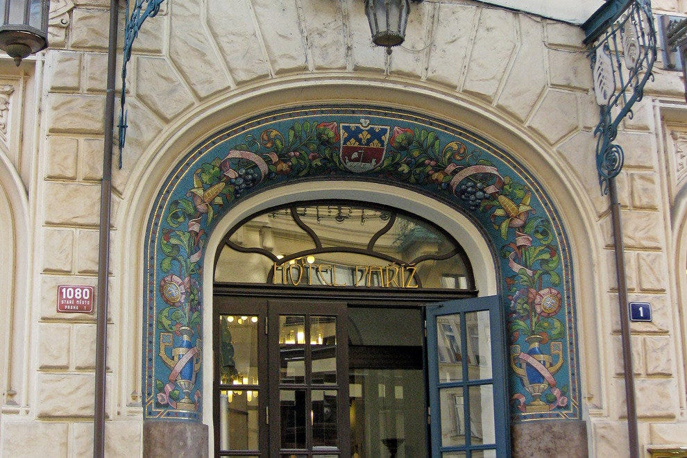 Step in through an ornate Art Nouveau entrance