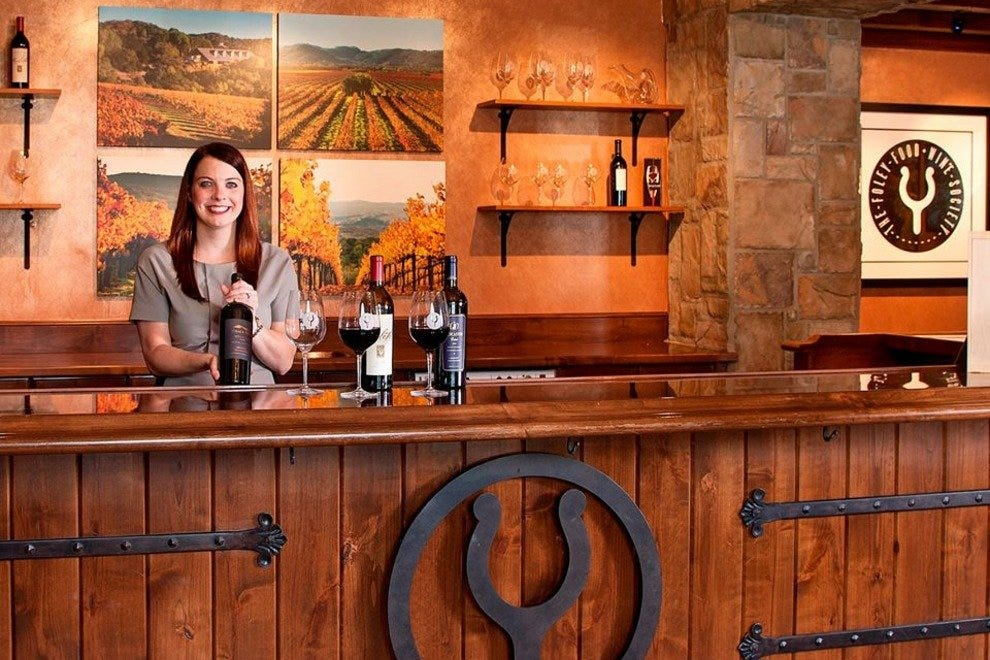 The Bacara's new tasting room features hundreds of wines in an inviting setting