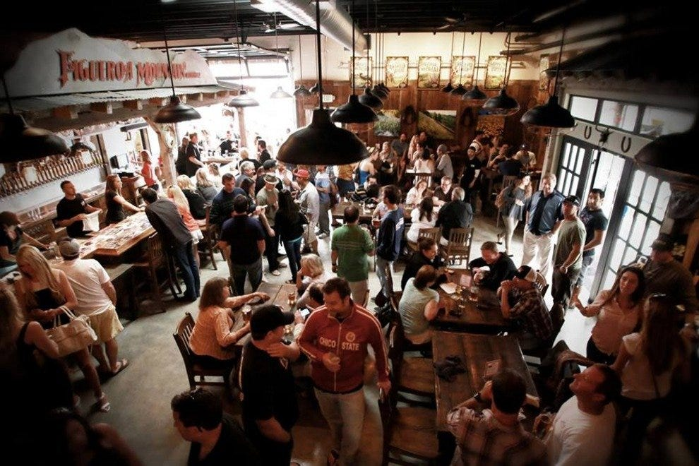 The new Figueroa Mountain Brewing Co. location is already packed with thirsty patrons