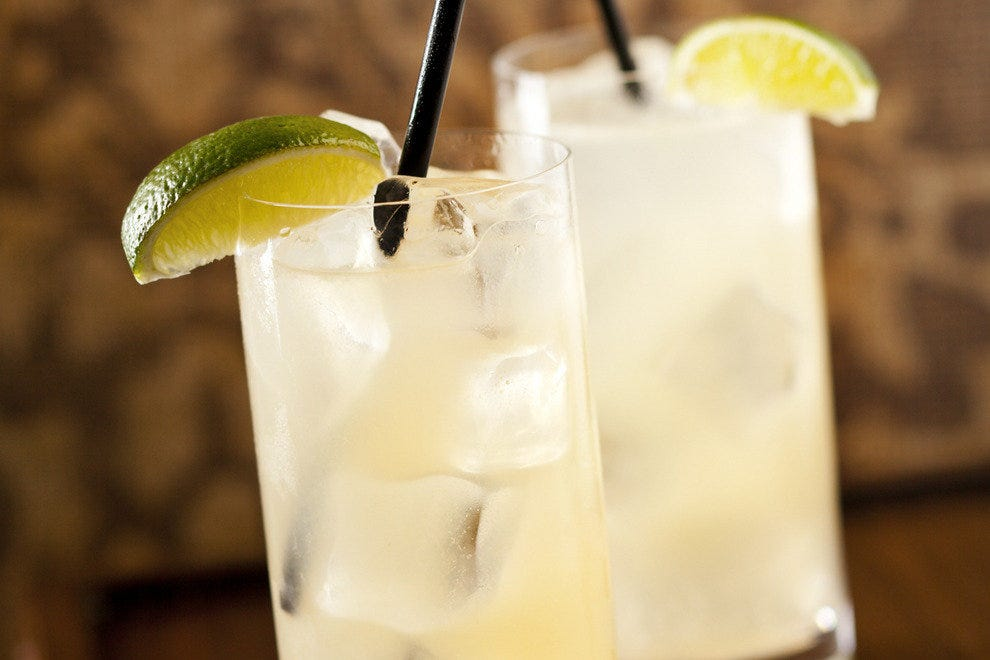 The Neck Shot is Rancho Valencia's take on a classic Paloma cocktail.