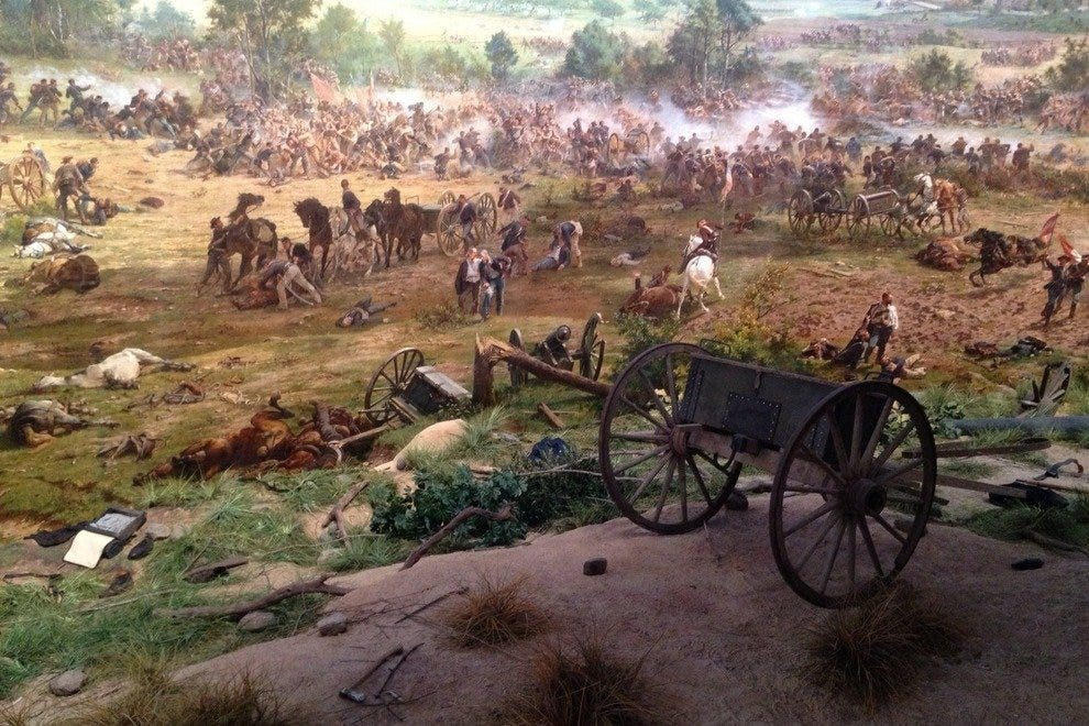 A scene from Gettysburg Cyclorama