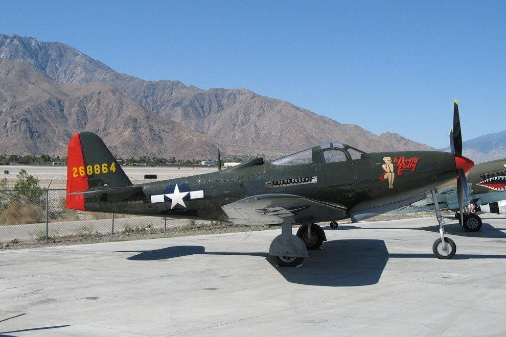 A classic aircraft at the Palm Springs Air Museum