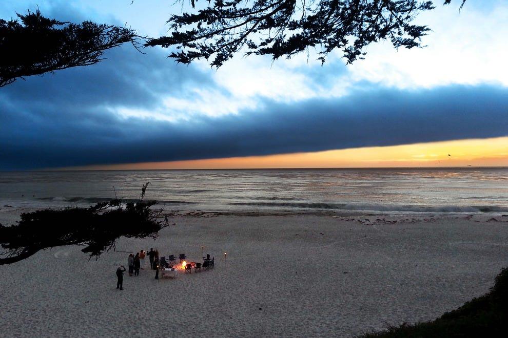 Sunset,Carmel-by-the-Sea beach