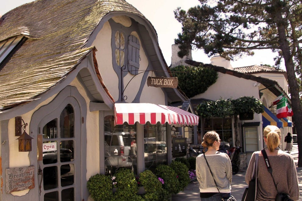 Comstock's Tuck Box cottage has operated as a British restaurant since the 1940's.
