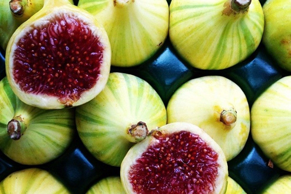 Candy stripe figs from Capay Organic Farm, available at Rainbow Grocery