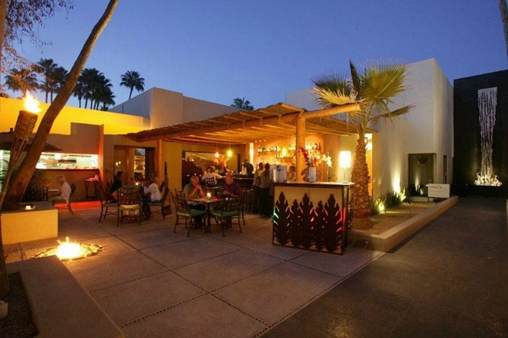 Voila Bistro is located at Plaza Paulina in the heart of San Jose del Cabo's Distrito del Arte