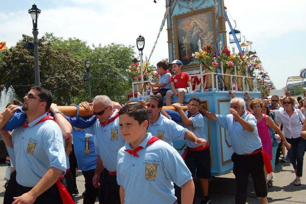 A traditional Sicilian procession is part of the many activities at the annual Festa Italiana in Milwaukee.