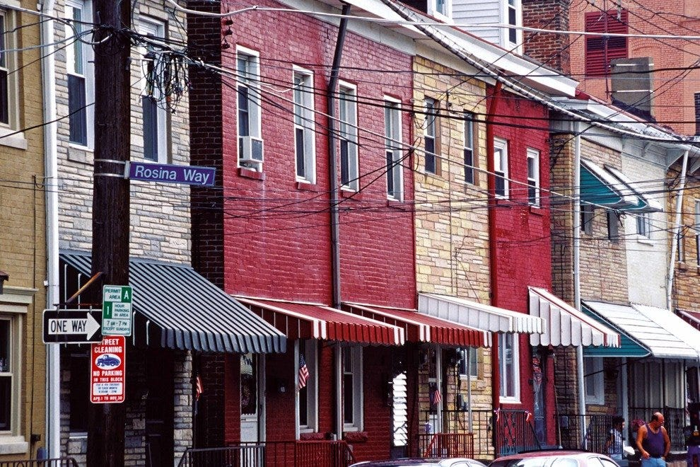 The row houses of Bloomfield are home to Italian American families to this day.