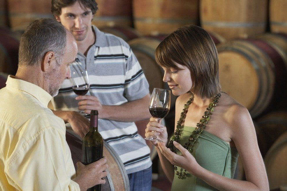 Many wine tastings in Mendoza involve sipping from the tank and the bottle.