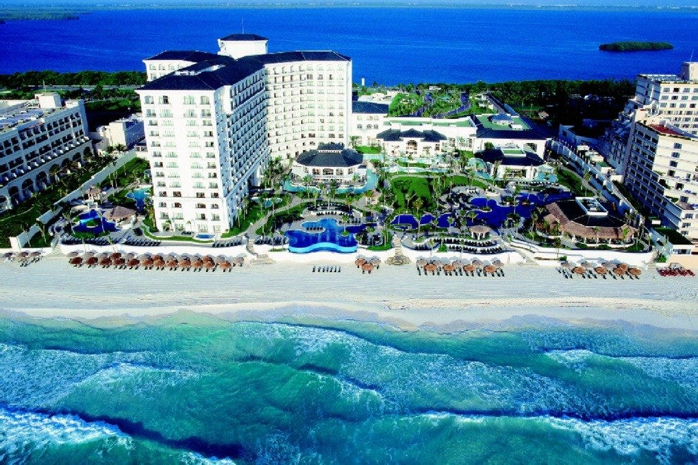 The JW Marriott is located at kilometer 14.5 of Cancun's Hotel Zone