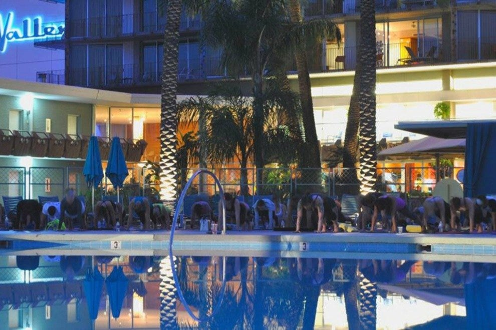 Stop by Hotel Valley Ho for free poolside yoga on Wednesday nights