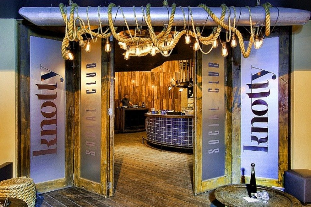 Cabo's hippest new nightclub, Knotty Social Club, opened in November 2012