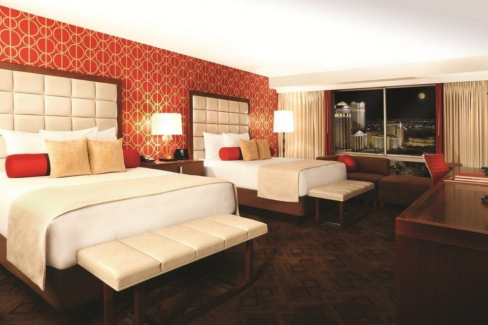The Jubilee Tower guest rooms at Bally's Las Vegas include rooms with two queen-sized beds