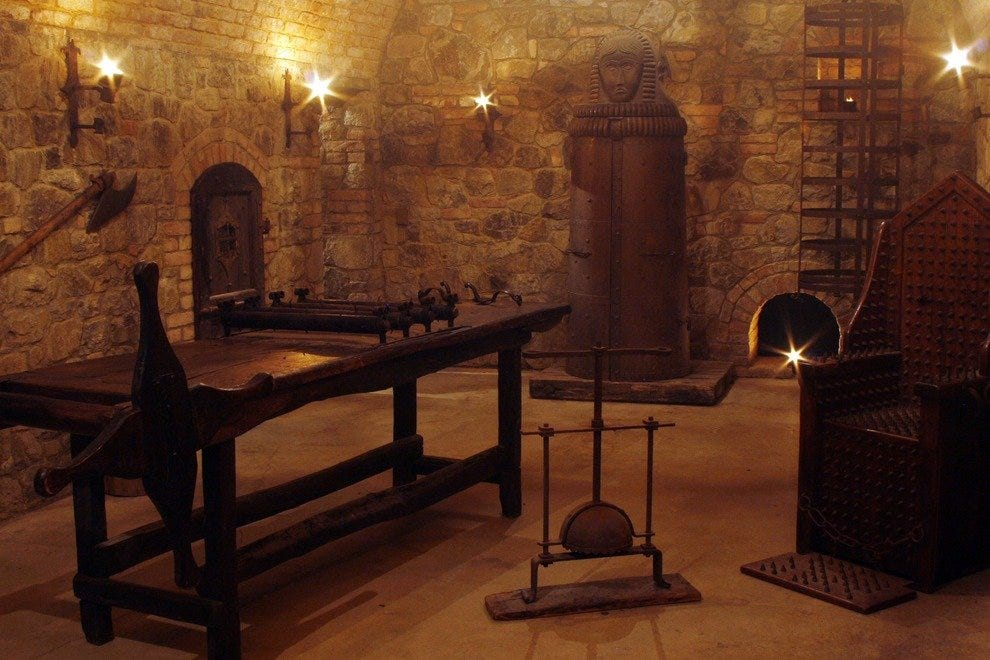 The torture chamber in the Castello di Amorosa