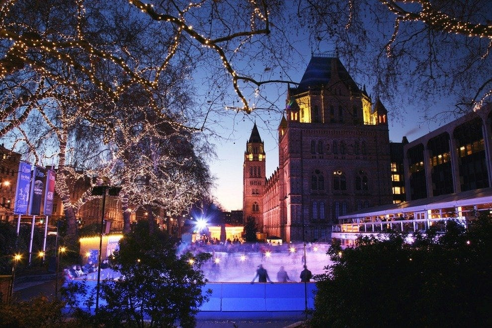 Natural History Museum ice skating rink